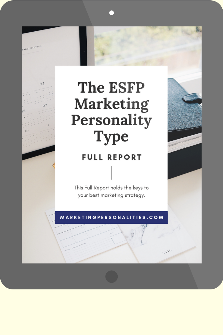 ESFP marketing personality type full report