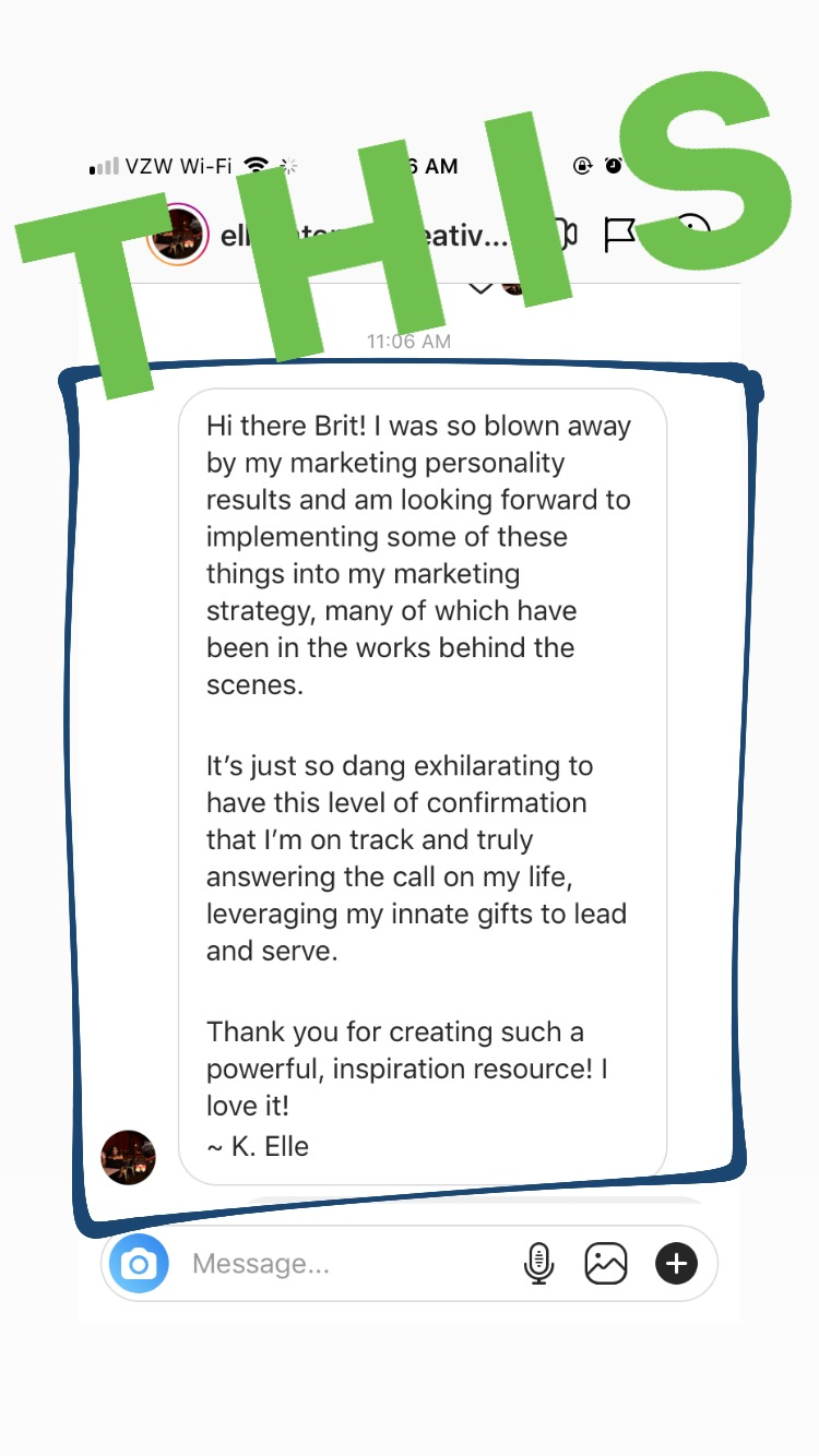 Marketing Personalities testimonial from Ellevate Media