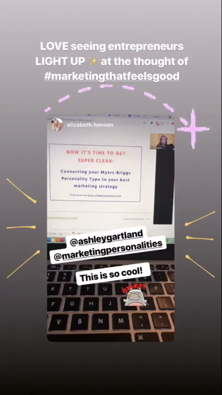 Marketing Personalities testimonial IG STORY 1
