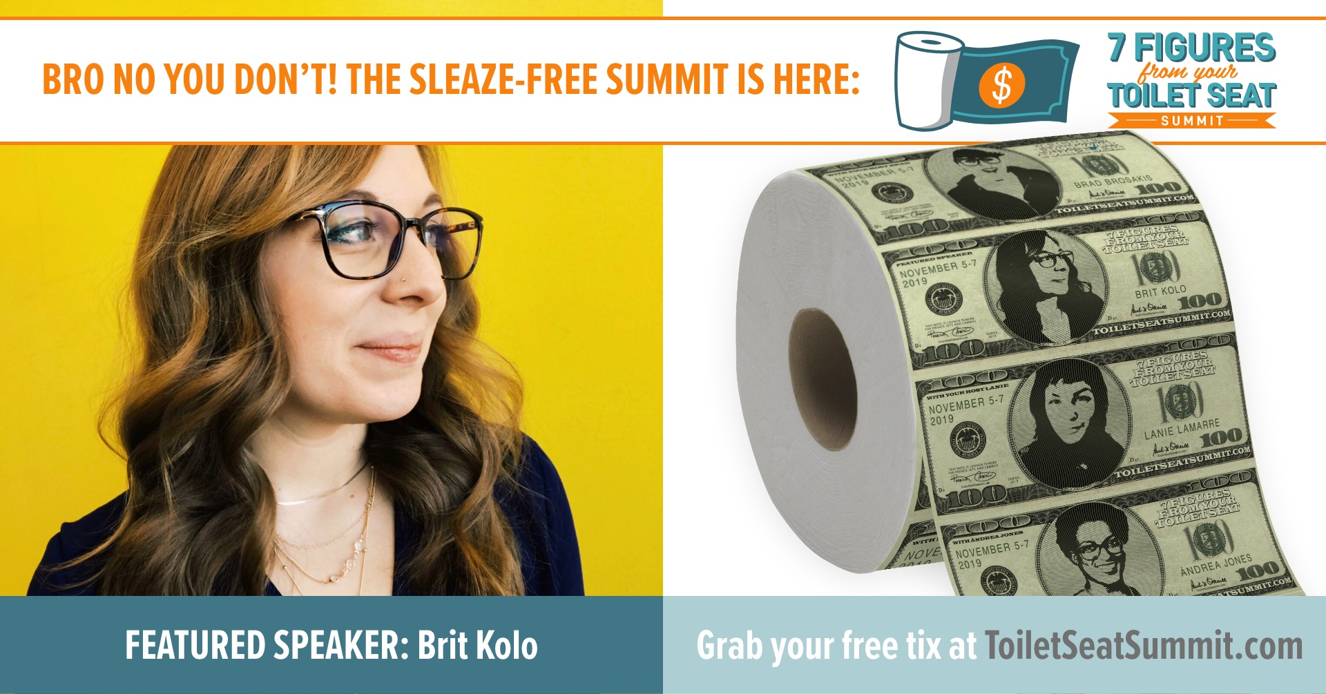 Brit Kolo on the Toilet Seat Summit hosted by RKA Rachael Kay Albers and Lanie Lamarre of MissGSD