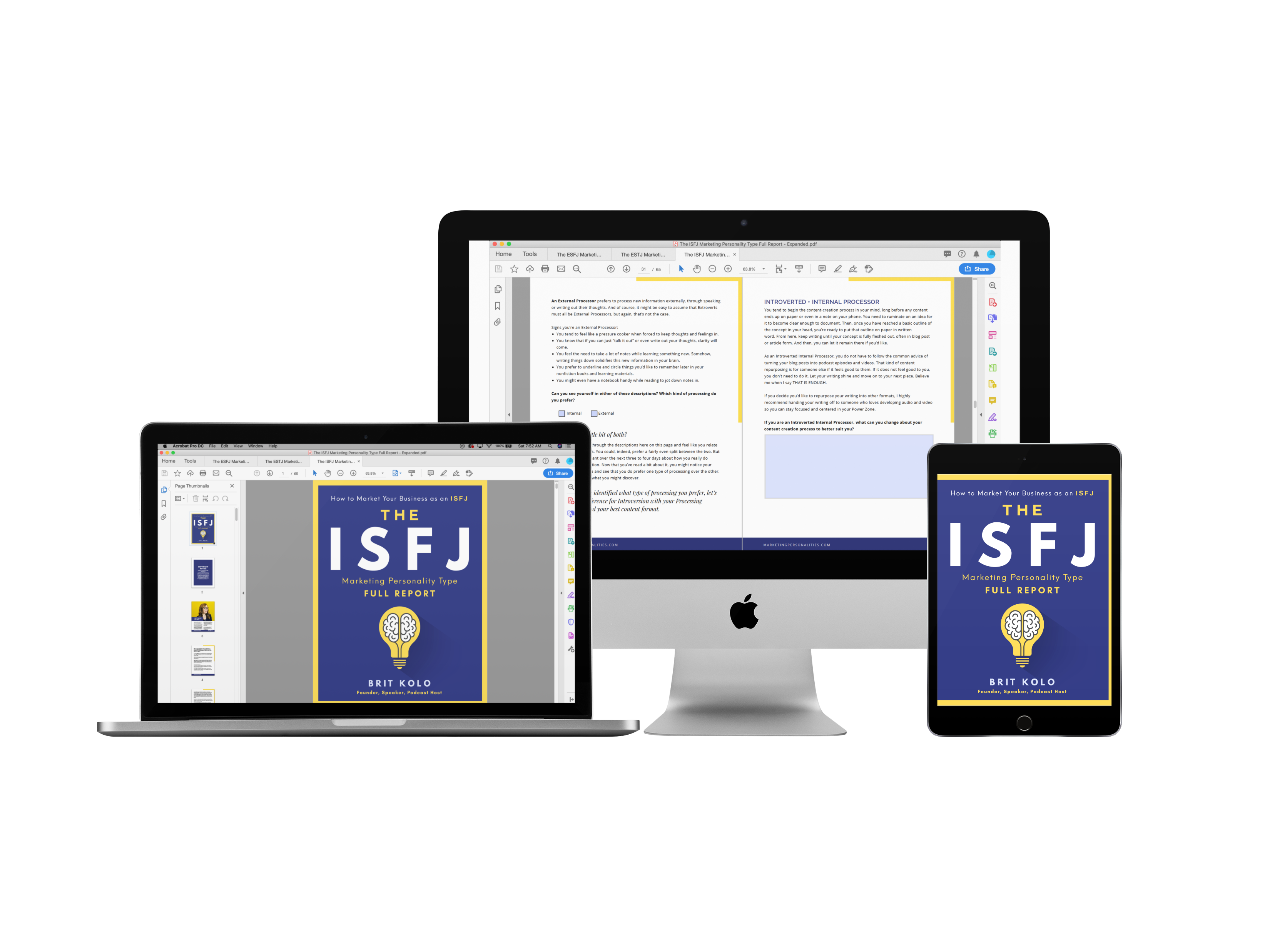 ISFJ Marketing Personality Type Full Report Product